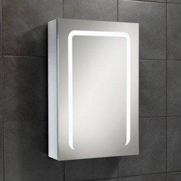 HiB Stratus LED Illuminated Steam Free Mirror Cabinet with Shaver Socket - 700 x 500mm