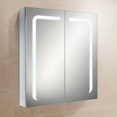 HiB Stratus LED Illuminated Steam Free Mirror Cabinet with Shaver Socket - 700 x 600mm