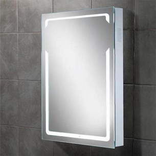 HIB Vibe Steam Free LED Illuminated Bluetooth Mirror with Stereo Speakers