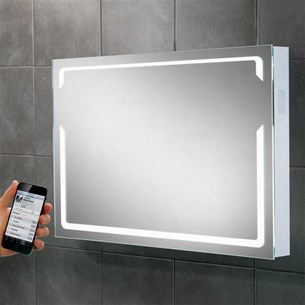 HIB Pulse Steam Free LED Illuminated Bluetooth Mirror with Stereo Speakers