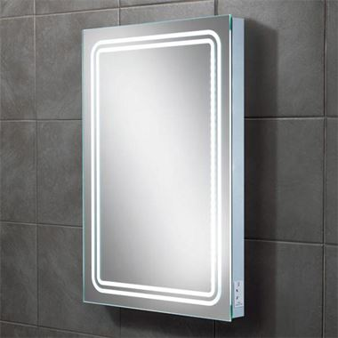 HIB Rotary Steam Free LED Illuminated Mirror with Shaver Socket