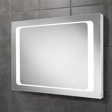 HIB Axis Steam Free LED Illuminated Mirror with Shaver Socket