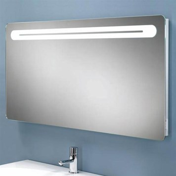 HIB Vortex Steam Free LED Illuminated Mirror with Shaver Sock
