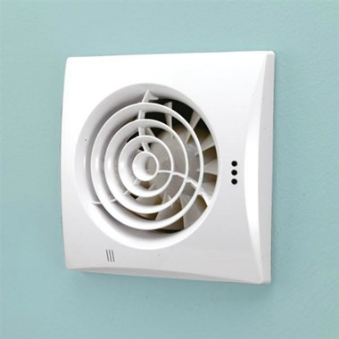 HIB Hush White Wall Mounted Slimline Low Profile SELV Fan
