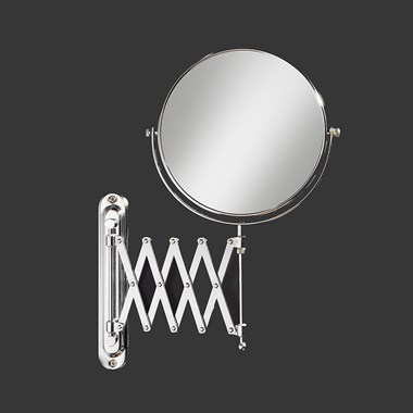 HIB Rossi Round Extendable Magnifying Mirror