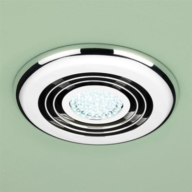 HIB Turbo LED Illuminated Inline Ceiling Ventilation System - Chrome
