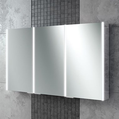 HIB Xenon 120 LED Illuminated Mirror Cabinet With Mirrored Sides