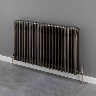 Butler & Rose 3 Column Horizontal Radiator - Bare Metal Lacquer Finish - 500 x 834mm