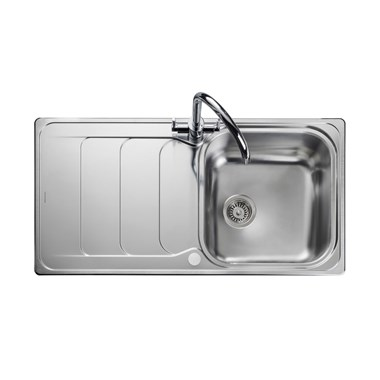 Rangemaster Houston 1 Bowl Stainless Steel Sink