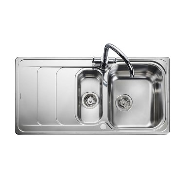 Rangemaster Houston 1.5 Bowl Stainless Steel Sink