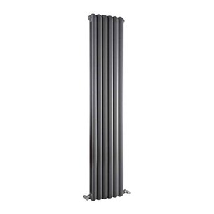Hudson Reed Salvia Double Panel Radiator - Anthracite - 1800 x 383mm