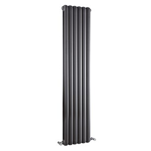Hudson Reed Salvia Double Panel Radiator - Anthracite - 1500 x 383mm