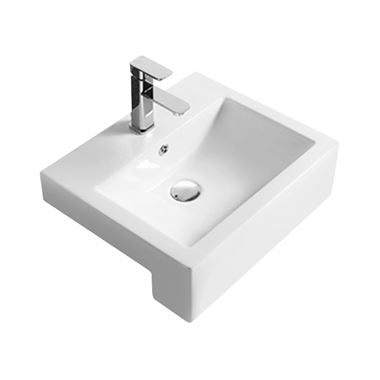 Hudson Reed 530mm Square Semi-Recessed Countertop Basin