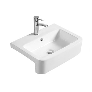 Hudson Reed 565mm Rectangular Semi-Recessed Countertop Basin