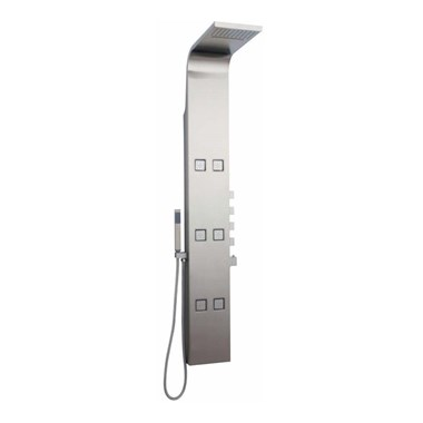 Hudson Reed Astral Stainless Steel Thermostatic Shower Tower with 6 Bodyjets
