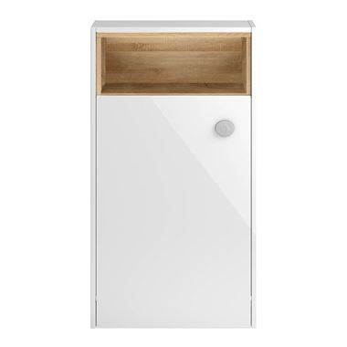 Hudson Reed Coast 600mm Back to Wall Toilet Unit With Open Shelf - White Gloss
