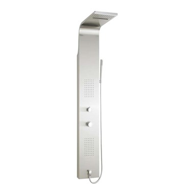 Hudson Reed Lava Stainless Steel Thermostatic Shower Tower with 6 Square Inset Bodyjets