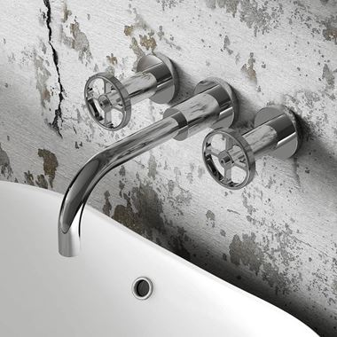 Hudson Reed Revolution Industrial Wall Mounted Basin Mixer Tap