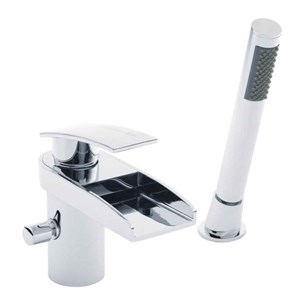Hudson Reed Rhyme Waterfall Bath Shower Mixer with Pull Out Handset