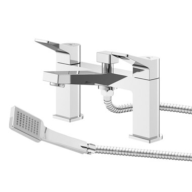Hudson Reed Soar Square Bath Shower Mixer Tap & Kit