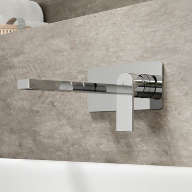 Hudson Reed Sottile Round Wall Mounted Basin/Bath Mixer Tap