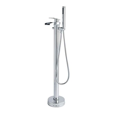 Hudson Reed Rhyme Floor Standing Bath Shower Mixer With Shower Handset and Hose