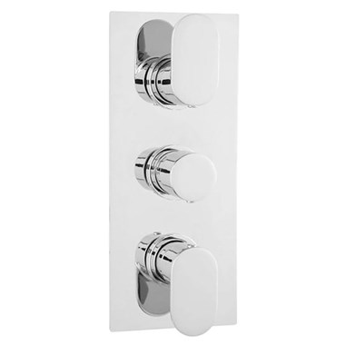 Hudson Reed Reign Square Triple Concealed Thermostatic Shower Valve