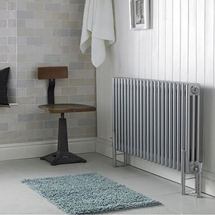 Ultra High Gloss Silver Colosseum Triple Radiator 600mm x 1011mm