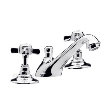 Ultra Beaumont 3 Hole Basin Mixer with Pop-Up Waste
