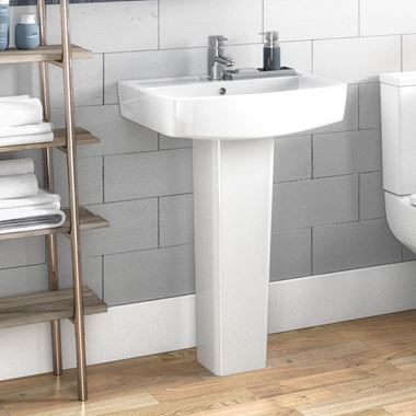 Ibis 600mm Basin & Full Pedestal