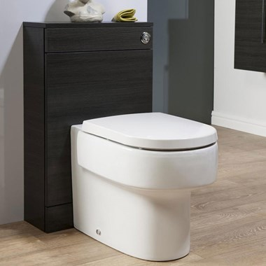Aspire Back to Wall WC Toilet Unit - Black Ash
