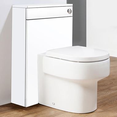 Aspire Back to Wall WC Toilet Unit - Gloss White