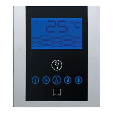 Vado Identity Thermostatic Shower Valve With Diverter And Digital Control Panel