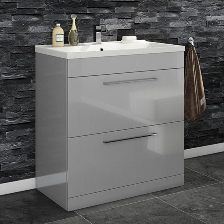 Vellamo Aspire 800mm Floorstanding 2 Drawer Vanity Unit