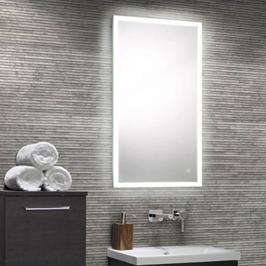 Harbour Glow LED Mirror with Demister Pad & Infrared Touch Button - 450 x 800mm