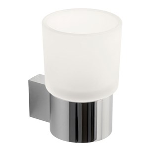 Vado Infinity Frosted Glass Tumbler & Holder