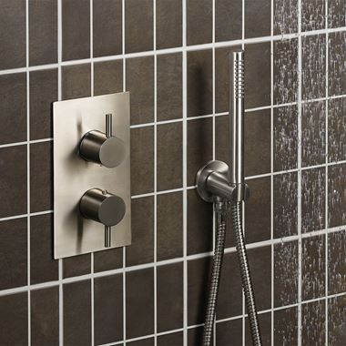 Inox Brushed Stainless Steel Concealed Thermostatic Shower Valve