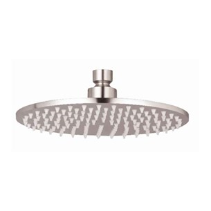 Inox Slim Round Overhead 300mm Fixed Shower Head - Brushed Stainless Steel