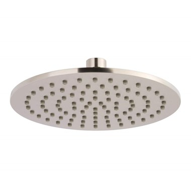 Inox Brushed Stainless Steel Slim Round Fixed Shower Head