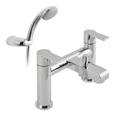 Vado Ion 2 Hole Bath Shower Mixer with Shower Kit