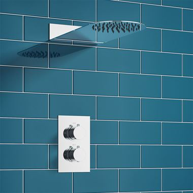 Drench Isaac Concealed Shower Valve & Fixed Wafer Shower Head