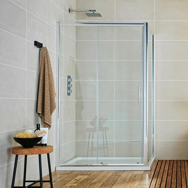 Harbour i6 Easy Clean 6mm Sliding Shower Door & Optional Side Panel