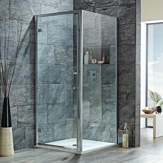 Harbour i8 Easy Clean 8mm Hinged Shower Door & Optional Side Panel