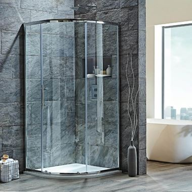 Harbour i8 Easy Clean 900x760 1-Door Quadrant Shower Enclosure - 8mm Glass