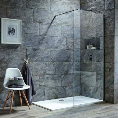 Harbour i8 8mm 2m Tall Easy Clean Glass Panel for Wetrooms & Walk-Ins
