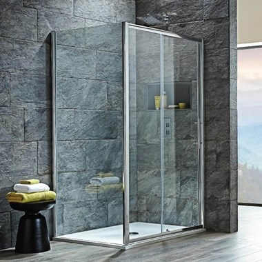 Harbour i8 Easy Clean 8mm Sliding Shower Door & Optional Side Panel