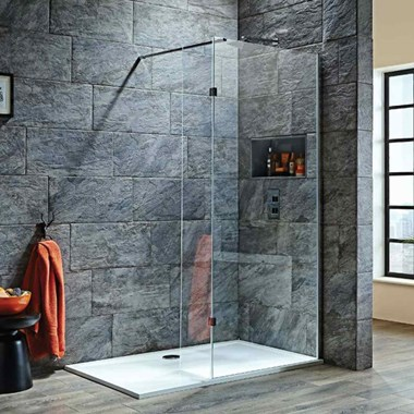 Harbour i8 8mm 2m Tall Easy Clean Wetroom Panel & Hinged Return Panel