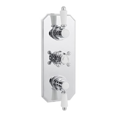Finesse Traditional Triple Concealed Thermostatic Shower Valve