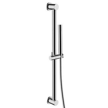 Inox Slide Rail with Single Function Hand Shower and Hose - Stainless Steel
