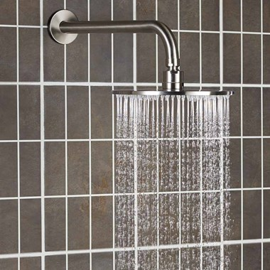 Inox Slim Round Overhead 300mm Fixed Shower Head - Stainless Steel